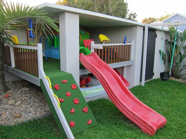 Get creative and build something a bit different with your Modular Wall panels - like this awesome fully equipped backyard kids cubbyhouse!