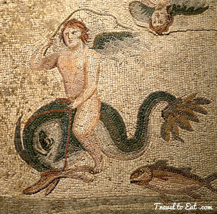 Detail. Oceanus and his Wife Tethus Mosaic. House of Oceanus, 2nd-3rd Century CE. Zeugma Mosaic Museum. Gaziantep, Turkey
