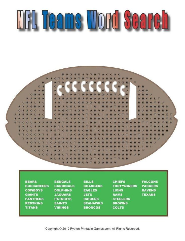 15 best Super Bowl Printable Games images on Pinterest ...