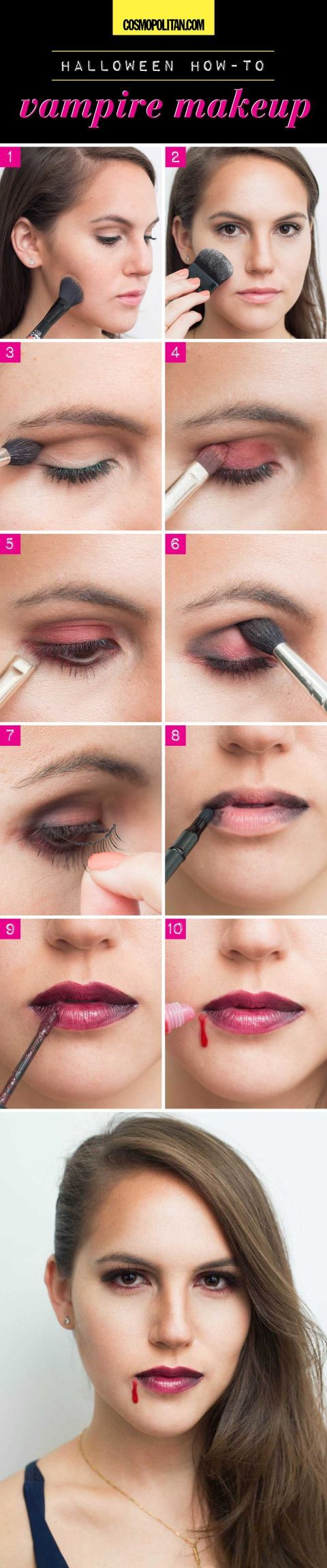 8 Easy Halloween Makeup Ideas - Halloween Makeup Tutorials With Makeup You Already Have