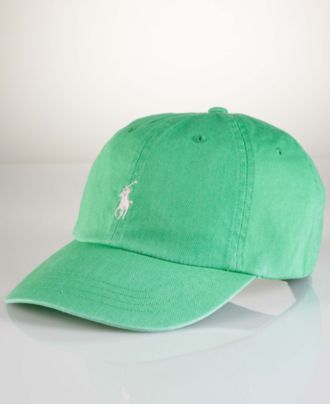 Polo Ralph Lauren Hat, Classic Chino Sport Cap in Course Green