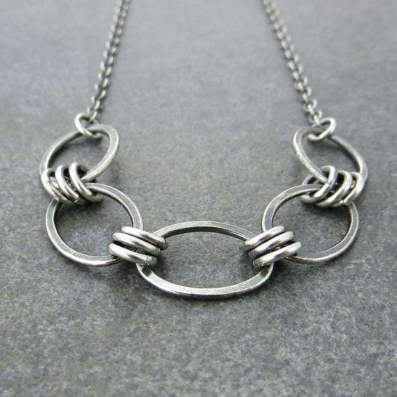 Simple Everyday Necklace Sterling Silver Chain by JenniferCasady