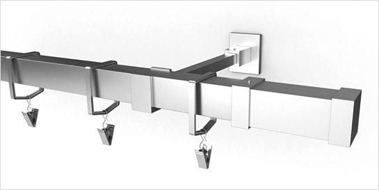 Karnisz Kwadratowy Moderno 20x20mm Carrara chrom mat