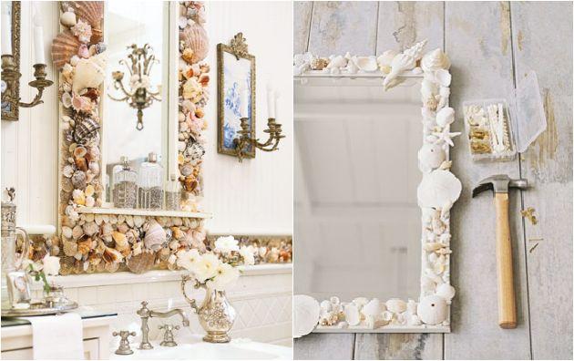 diy shell mirror