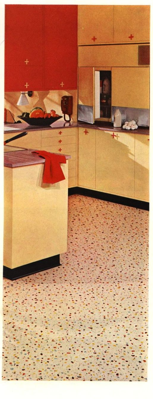 Armstrong Linoleum, 1957. Armstrong Cork Co. From the Association for Preservation Technology (APT) - Building Technology Heritage Library, an online archive of period architectural trade catalogs. Select an era or material and become an architectural time traveler.