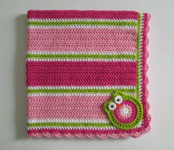 Owl Baby Blanket by Sadie's Cottage