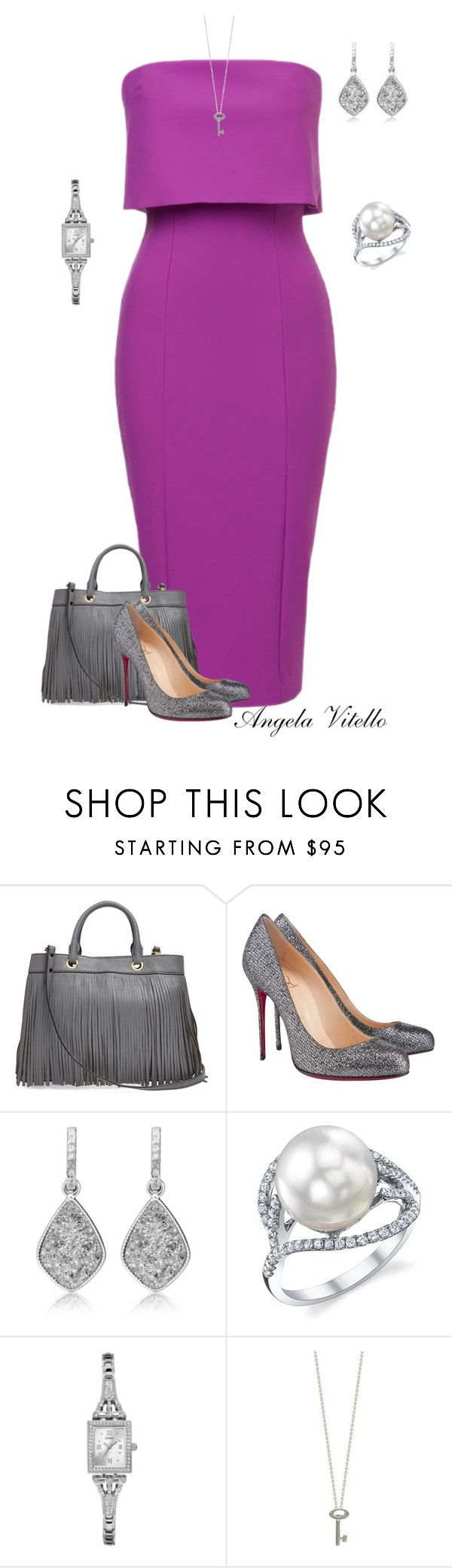 """Untitled #651"" by angela-vitello on Polyvore featuring Milly, Christian Louboutin, GUESS and Roberto Coin"