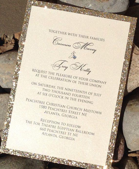 17 best ideas about glitter wedding invitations on pinterest, Wedding invitations