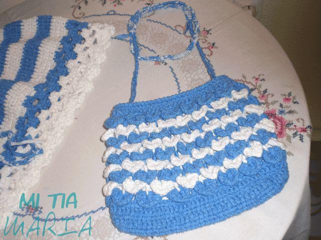 Mi tia María: La Mari tejedora: Falda y bolso de crochet para niña