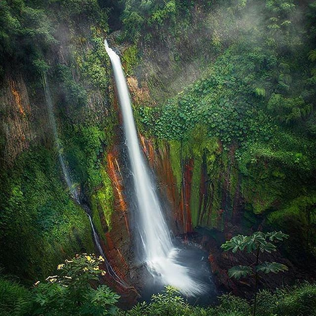 Follow @globefever for more. Costa Rica Del Torro Waterfall 🇨🇷⠀ Photo by @sergio_vindas