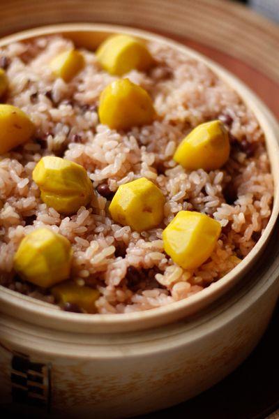Chestnut sekihan 栗のお赤飯