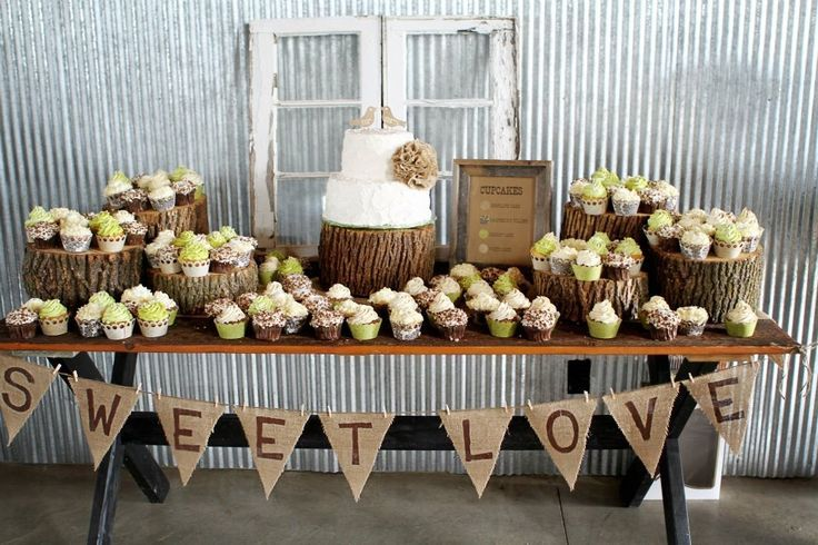 rustic wedding table decoration ideas | Rustic Wedding Cake Table Decorations