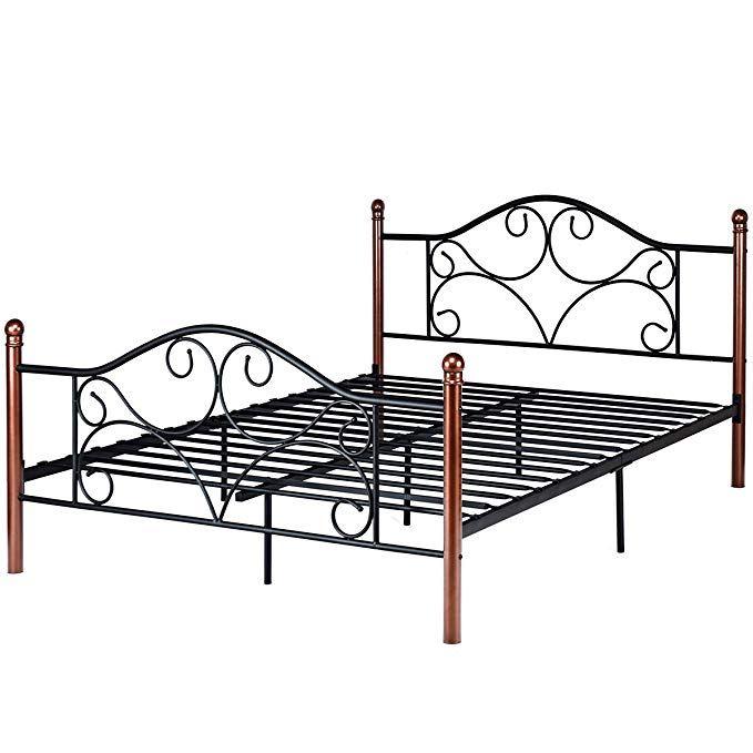 Giantex Queen Size Platform Bed Frame 9 Leg Support Mattress