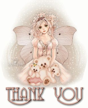 beautiful thank you glitter graphics | http://www.glitters123.com/thank-you/angel-with-teddies/