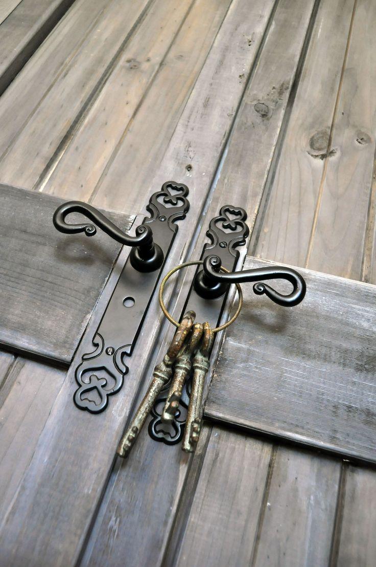 Black iron door handles. http://www.restorationonline.com.au/matt-black-iron-strasbourg-door-handle-range