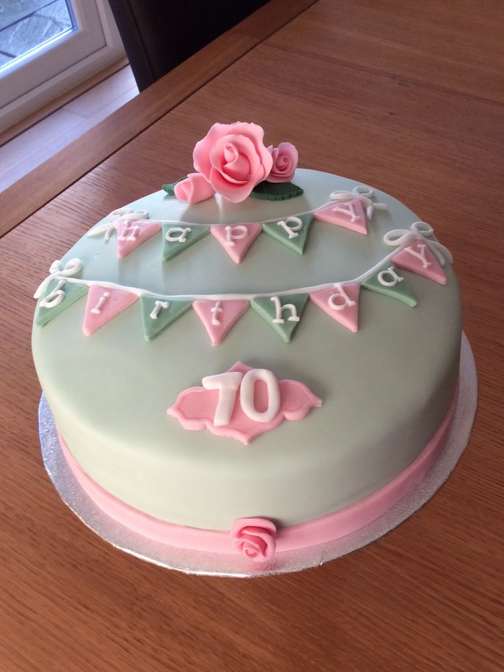 75 Best 70th Birthday Cakes Images On Pinterest Anniversary