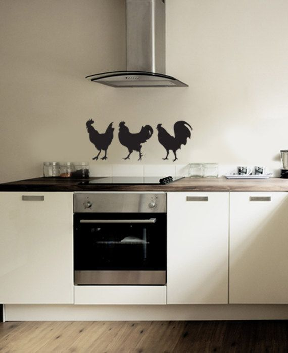 Chickens on parade.: Silhouette Vinyl
