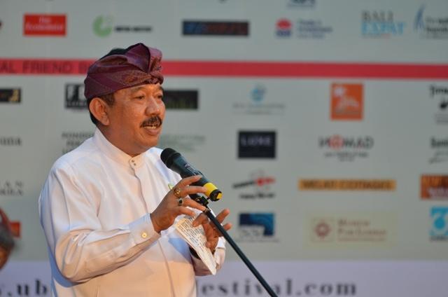 Bupati Gianyar DR. Ir. Tjokorda Oka Artha Ardana Sukawati, Msi #UWRF 2012