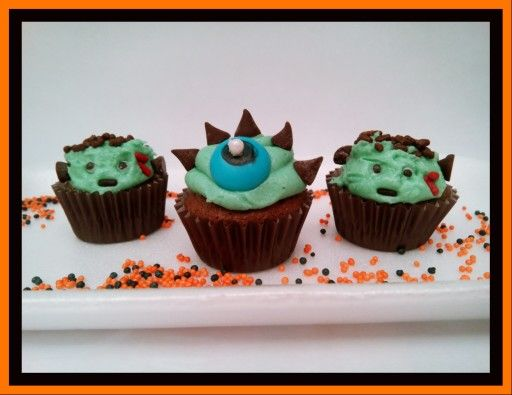 Mounstritos cupcakes