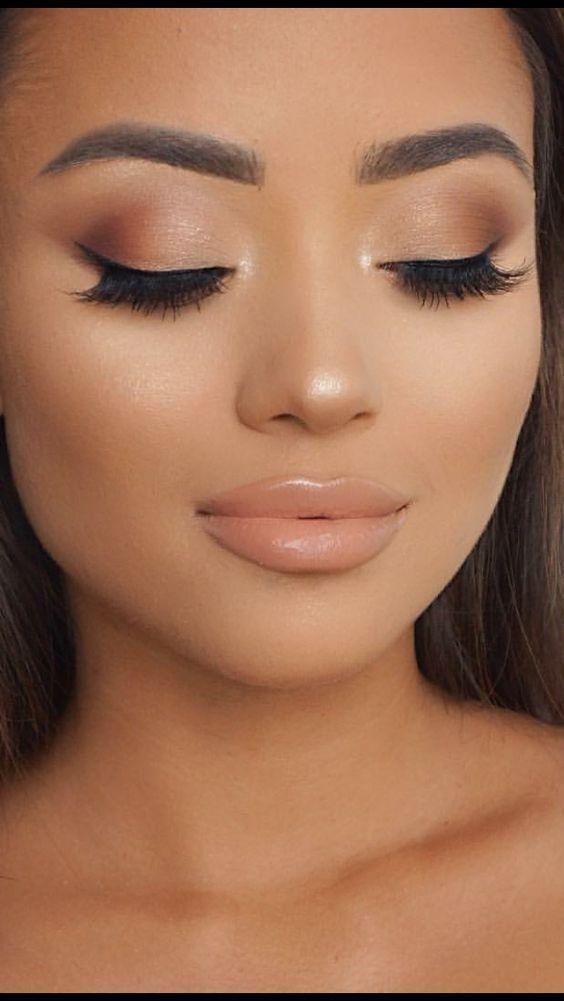 Maquillaje Estilo Natural Color Rosa Tonos Naturales para Piel Morena Otoño Ten…