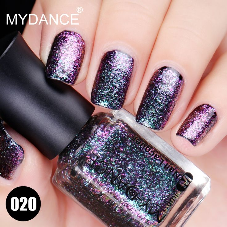 MYDANCE Brand Pigment Nail Art Makeup Waterproof Nail Lacquer 2017 New Fashion Magic Change Color Glitter. Click visit to buy #Nail #Polish #NailPolish