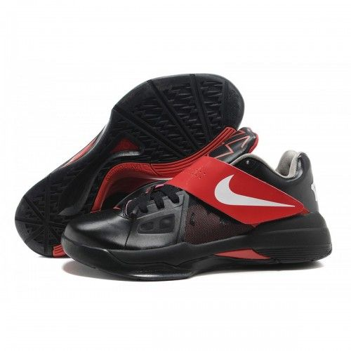 Hot Sale Nike Kevin Durants New KD IV Mens Basketball Shoes Black Red