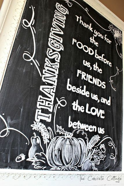 The Concrete Cottage: My Thanksgiving Chalkboard