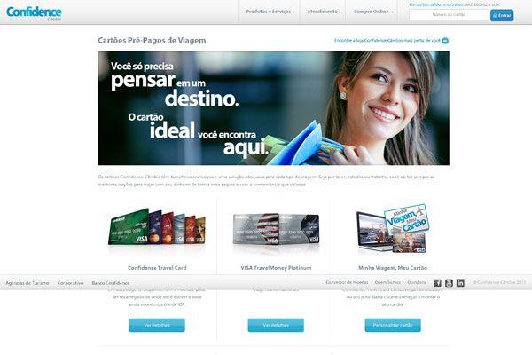 Confidence: Cartão pré-pago internacional | Cartão Pré Pago Internacional
