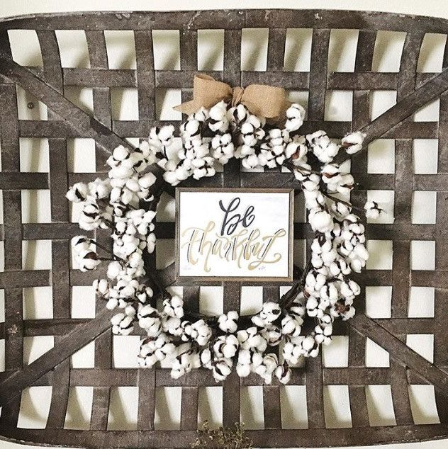 Tobacco Basket Fall Wall Decor – Nested Sanctuary