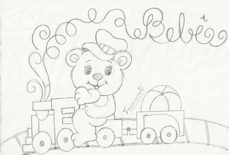 Mejores 115 im genes de para pintar sabanitas de bebe en - Dibujos para pintar sobre tela ...