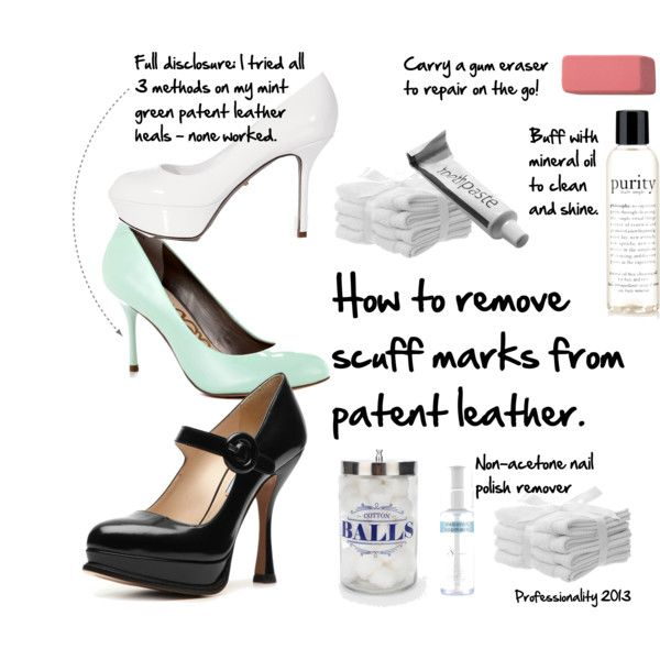 how to clean patent leather purse
