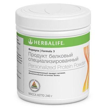 Формула 3 от Гербалайф - это запатентованная протеиновая смесь с высококачественным соевым и сывороточным белком, который необходим как для снижения веса, так и для наращивания мышечной массы. Соевый белок, который входит в состав продуктов Гербалайф, не содержит жира, низкокалориен и обладает высокой питательной ценностью.