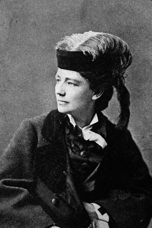 Victoria Woodhull, the first woman to run for President of the United States (and who had great taste in hats). Her running mate, interestingly enough, was Frederick Douglass, the first African-American to run for Vice President.
