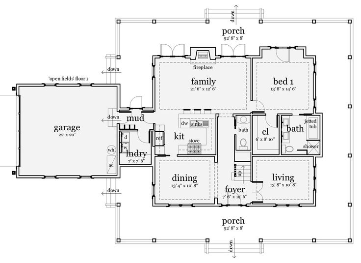 60 best images about floor plans on pinterest Single story open concept floor plans