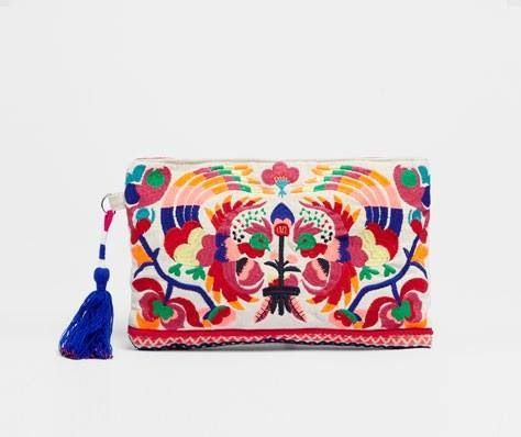 Bolsa de mano bordado mexicano