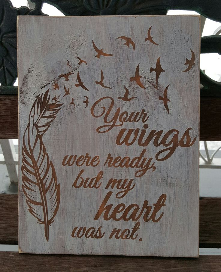 """9.5"""" x 12"""" wooden sign A touching tribute to a loved one ..."""