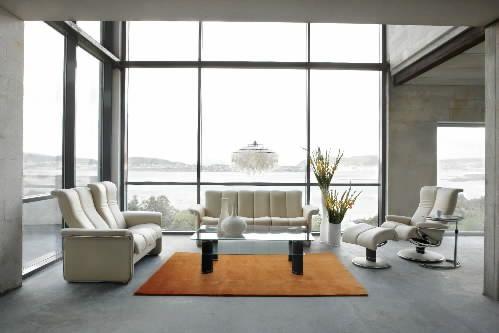 stressless paradise sectional on the ekornes stressless. Black Bedroom Furniture Sets. Home Design Ideas