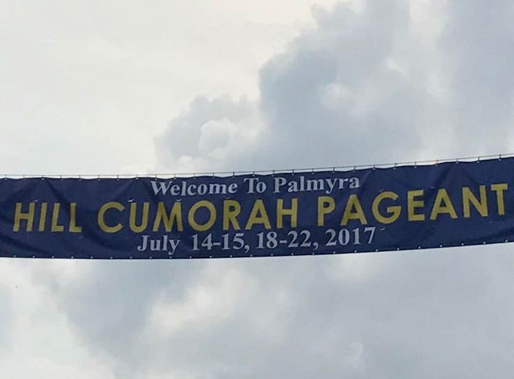 Banner for the Hill Cumorah pageant  Palmyra July