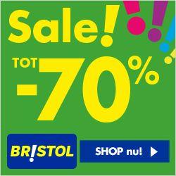 Nu bij Bristol: Tot 70% korting op topmerk schoenen, kleding en sportartikelen!  Bristol is dé grootste schoenen-, kleding- en sport artikelen discounter sport van Nederland. Bij Bristol vind je niet alleen een uitgebreid assortiment aan schoenen, maar ook een ruim aanbod kleding, sport- en campingartikelen en accessoires tegen zeer scherpe prijzen.