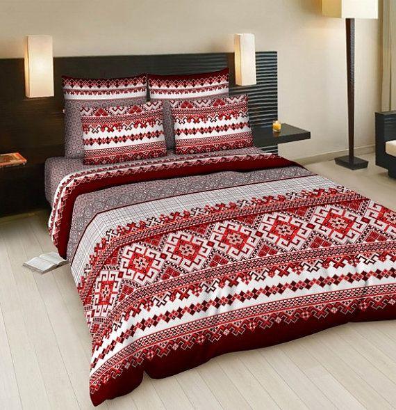 Twin bedding set  FullQueen bedding set  single by Ukrainevintage