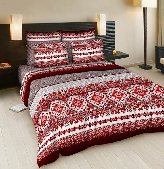 Twin bedding set  FullQueen bedding set  single by Ukrainevintage