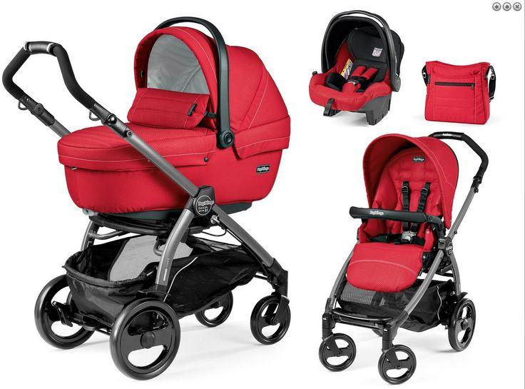Peg Perego Modularsystem Book Plus 51 Mod Red Gestell jet  Das schicke Modularsystem umfasst alles, was frisch gebackene Eltern benötigen.  #pegperego #babys #kinderwagen #babywagen #kinder #kids