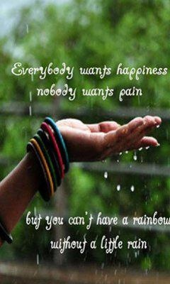 Everybody Wants Happiness, Nobody Wants Pain, But You Can't Have A Rainbow Without A Little Rain.