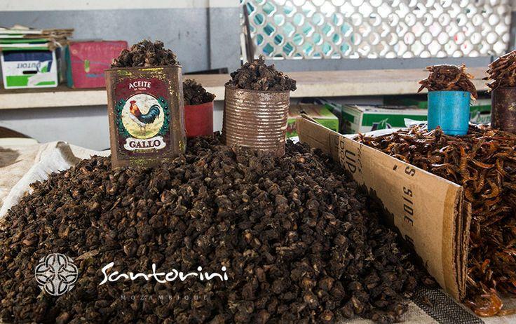 Dried fish, what makes the markets aroma even more intense #santorini #mozambique #vilanculos #bazaruto #driedfish