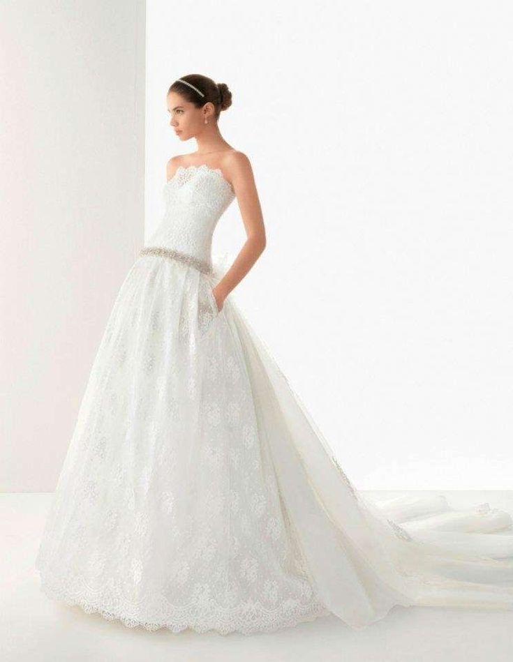 Collezione di abiti da sposa Rosa Clara - Vestito da sposa con gonna di pizzo