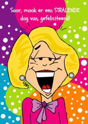 Knallende verjaardagskaart vrouw - Verjaardagskaarten - Kaartje2go