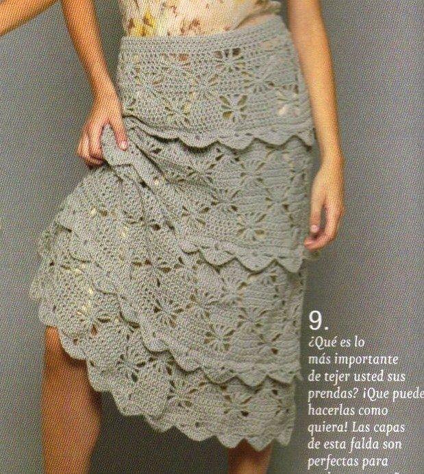 Faldas tejidas on Pinterest | Crochet Skirts, Lace Skirt and Tejidos