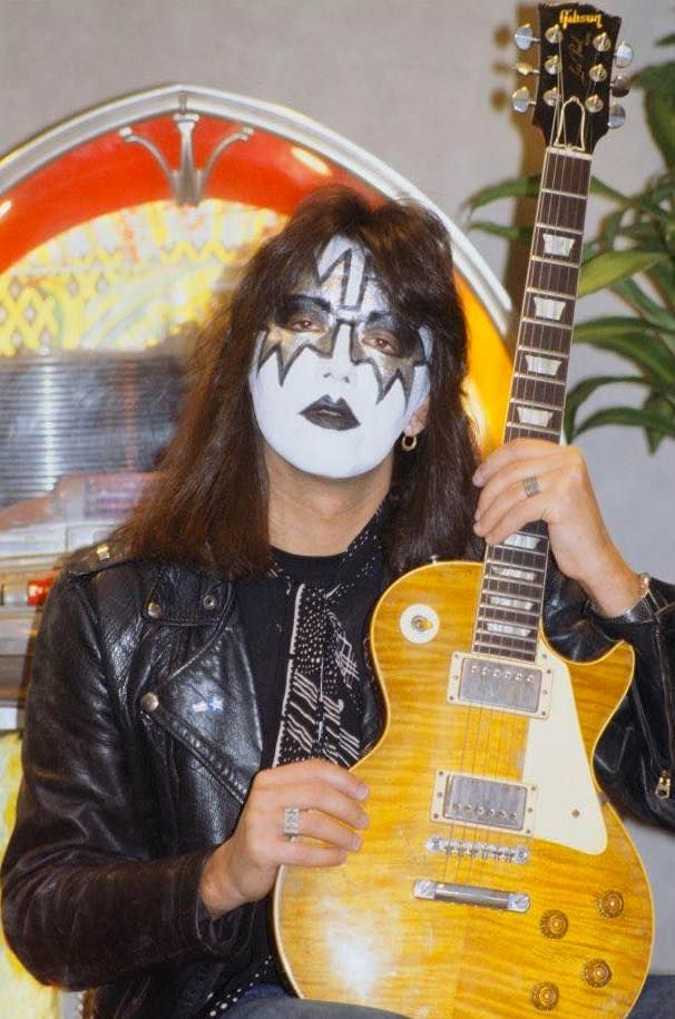 Ace Frehley With His 1959 Gibson Les Paul Standard Ace Frehley