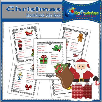 Christmas laughs, anyone? Have fun with these timeless Christmas knock-knock jokes. This is a FREE product provided to you from Knowledge Box Central. This ebook is a downloadable PDF file. Just follow the instructions, cut, fold, glue, and create! Be sure to check out our