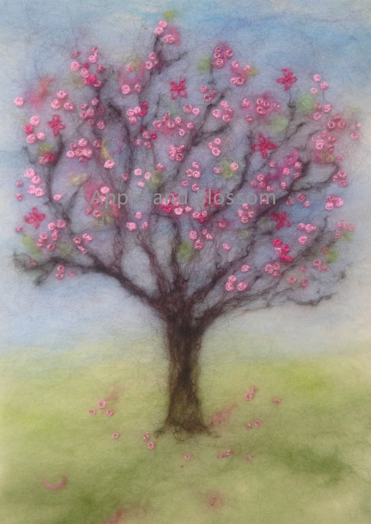 Embroidered Blossom Tree created by Mary Spence at Apple and Blossom